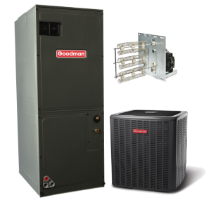 Goodman 14 seer 2 5 ton electric heat split system in 2 5 for Electrical heating systems for homes