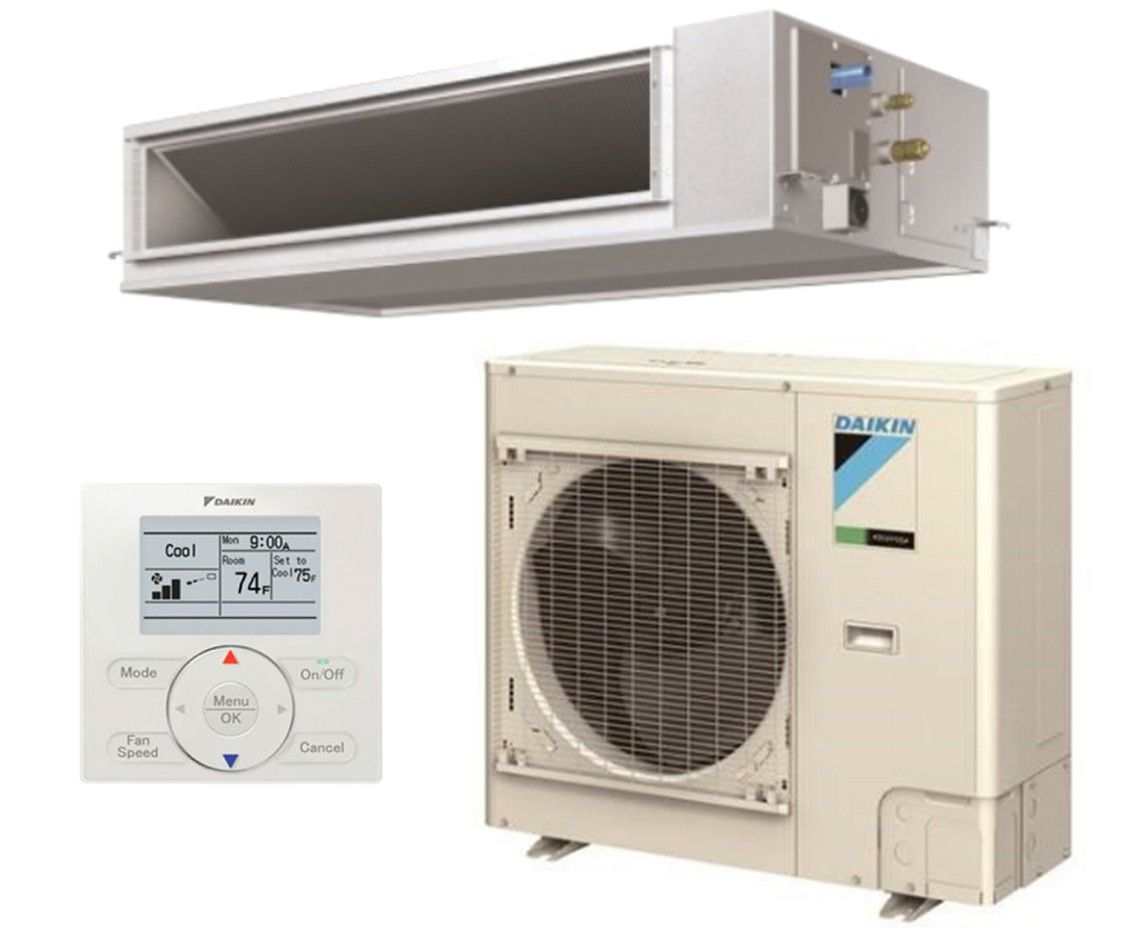 DAIKIN SkyAir 30K BTU 16.0 SEER Heat Pump Horizontal Ducted System  - Commercial