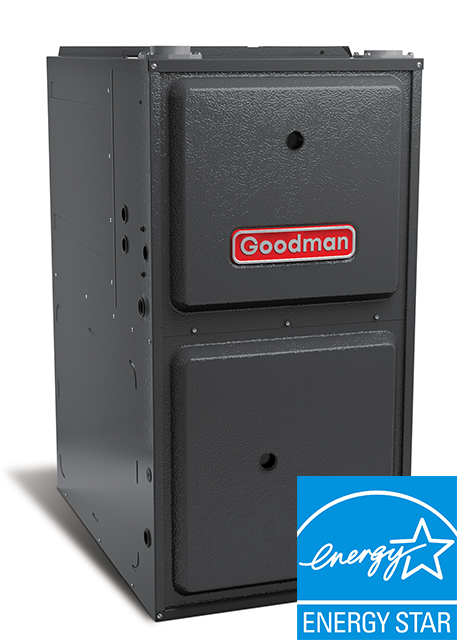 60K BTU Goodman 96% AFUE GCVC96 Downflow, Two-Stage Variable-Speed Gas Furnace