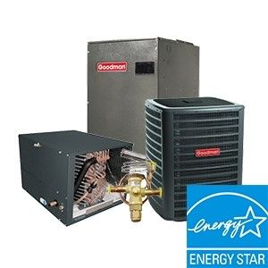 Goodman 2.0 Ton 18 SEER  Two Stage System with 96% Efficient 60K BTU  Natural Gas Furnace Two Stage Variable Speed Horizontal Energy Star