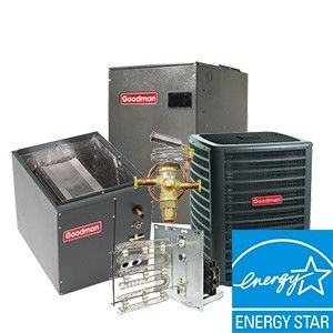 Goodman 3.0 Ton Heat Pump System Two Stage 18.5 SEER with Variable Speed Blower Energy Star UPFLOW