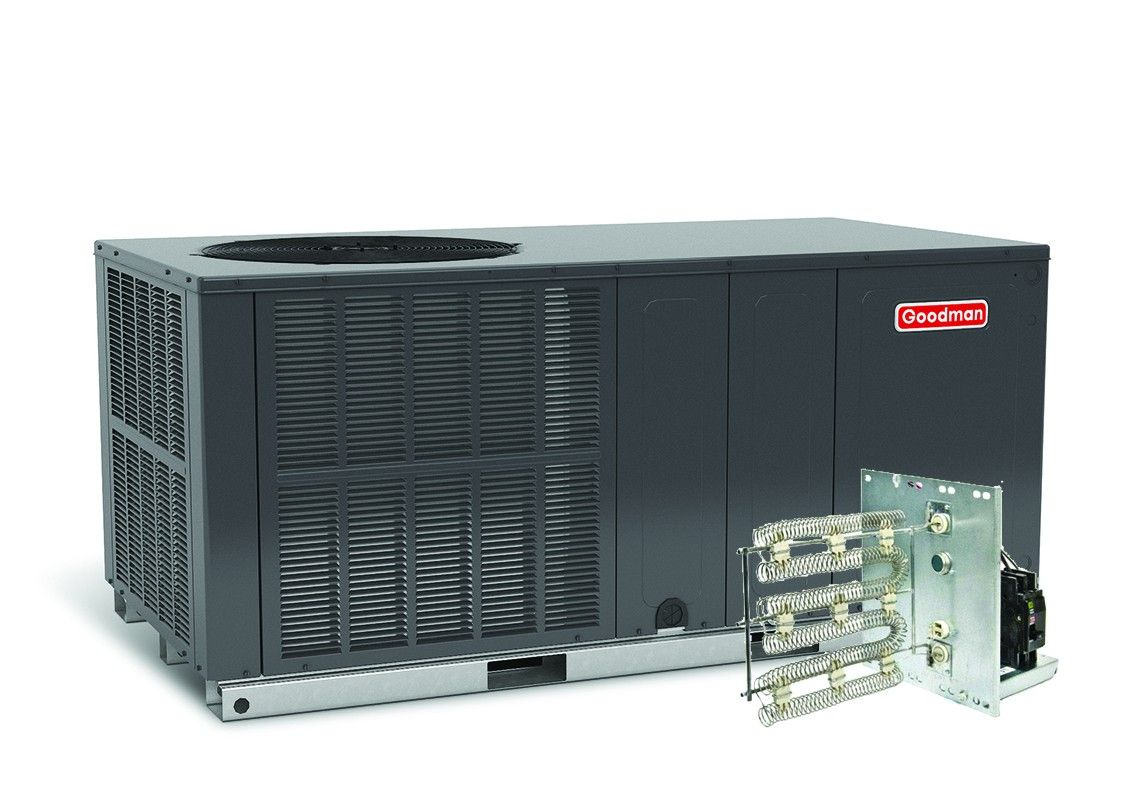 Goodman 3.5 Ton 14 SEER Electric Heat Package Unit Horizontal - GPC1442H41C