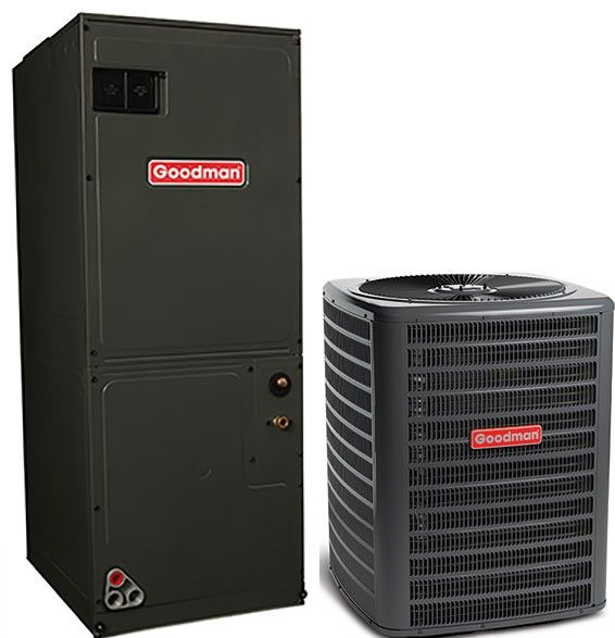 Goodman 5.0 Ton 16 SEER Single Stage Air Conditioning System with Electric Heat