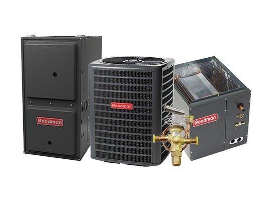 Goodman 3.0 Ton 14 SEER 80K BTU 96% Two Stage Natural Gas System with 4 Ton Blower Upflow
