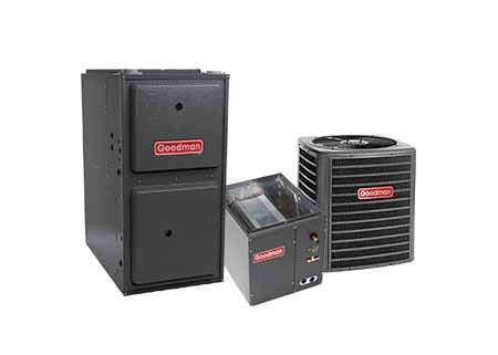 Goodman 3.5 Ton 14 SEER 100K BTU 96% Single Stage Natural Gas System Upflow