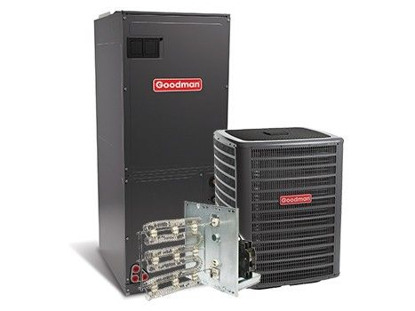 Goodman 4.0 Ton 16 SEER Two Stage Air Conditioning System with Electric Heat