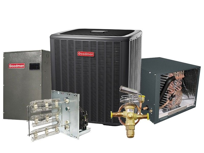 Goodman 5.0 Ton 17 SEER Heat Pump Two Stage Variable Speed Split System - HORIZONTAL