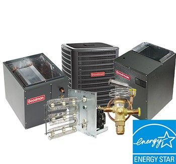 Goodman 4 Ton 16 SEER Heat Pump Two Stage System with Variable Speed Air Handler Upflow Energy Star
