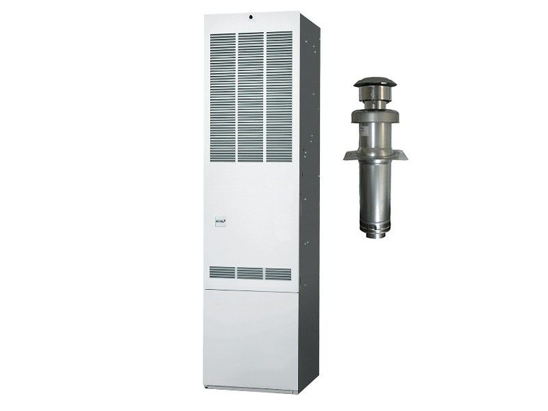 Revolv 90K BTU 80% Gas Furnace for Mobile Home Downflow with Coil Cabinet