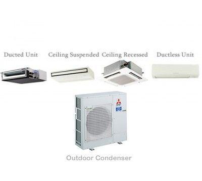 Mitsubishi P-Series 36,000 BTU Ductless Heat Pump Air Conditioner