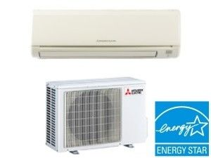 Mitsubishi 9K BTU 24.6 SEER Heat Pump Ductless Mini Split System