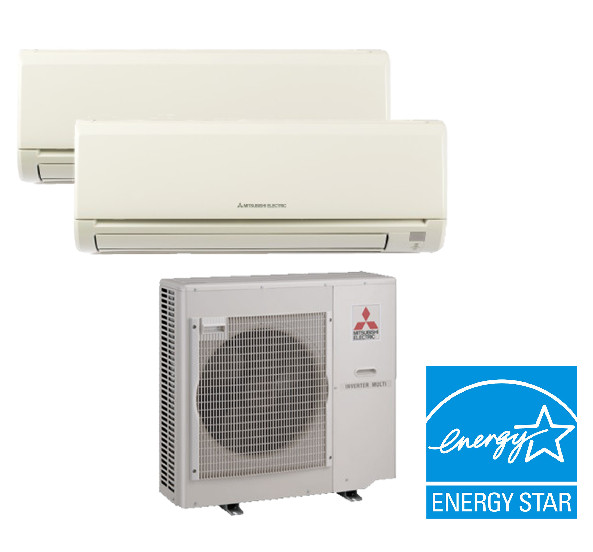 Mitsubishi Mxz 2c20na 2 Zone Heat Pump With Two 2 9 000
