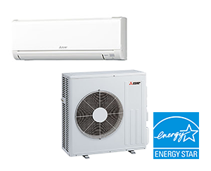 Mini Split AC Unit - Mitsubishi 24,000 BTU Ductless Cooling Only AC System - 20.5 SEER