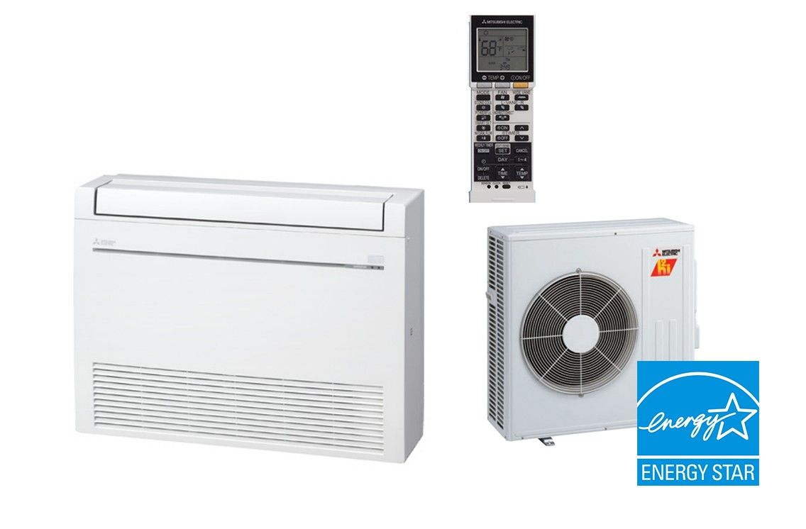 Mitsubishi 15K BTU 21.8 SEER Hyper Heat Floor Mount System
