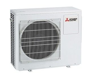 Mitsubishi Mr Slim Fully Charged 2-Zone Outdoor Heat Pump Condensing Unit