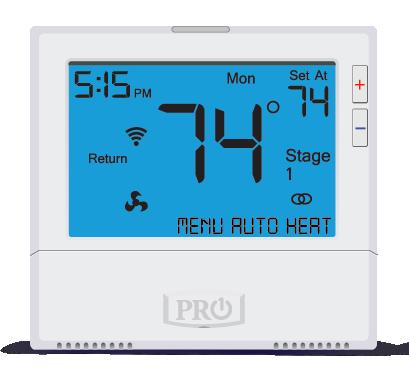 Pro1 IAQ 3 Heat 2 Cool Touchscreen Programmable Wireless Thermostat w/ Humidity