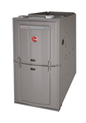 Rheem 80% 50K BTU Natural Gas Furnace with 3 Ton Blower Upflow/Horizontal 14""