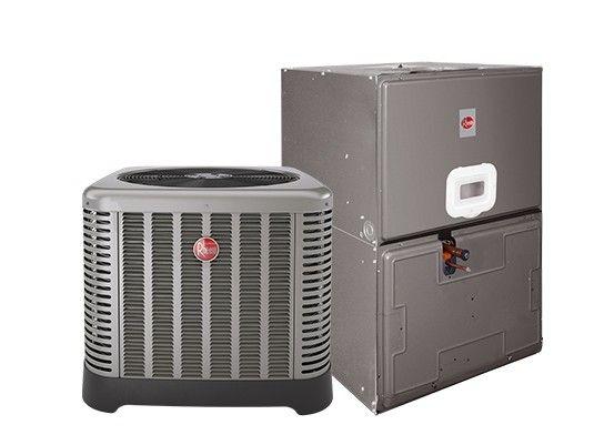 "Rheem 3.0 Ton 14 SEER Electric Heat Split System with 7KW; 35"" Air Handler"