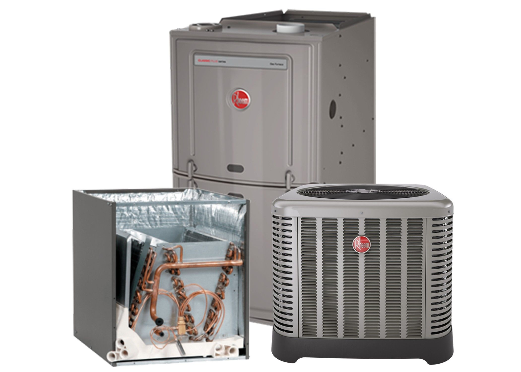 Rheem 2 0 Ton 16 Seer With 80 50k Btu Natural Furnace