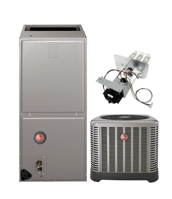 Rheem 3.0 Ton 14 SEER Air Conditioning System with Electric Heat