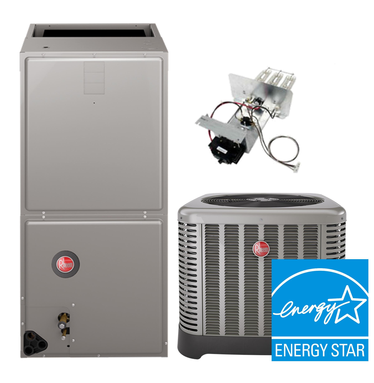 Rheem 4.0 Ton 16SEER Air Conditioning System with Electric Heat on rheem water heater 30 gal mobile home, rheem water heater element, rheem tankless water heater, rheem models,
