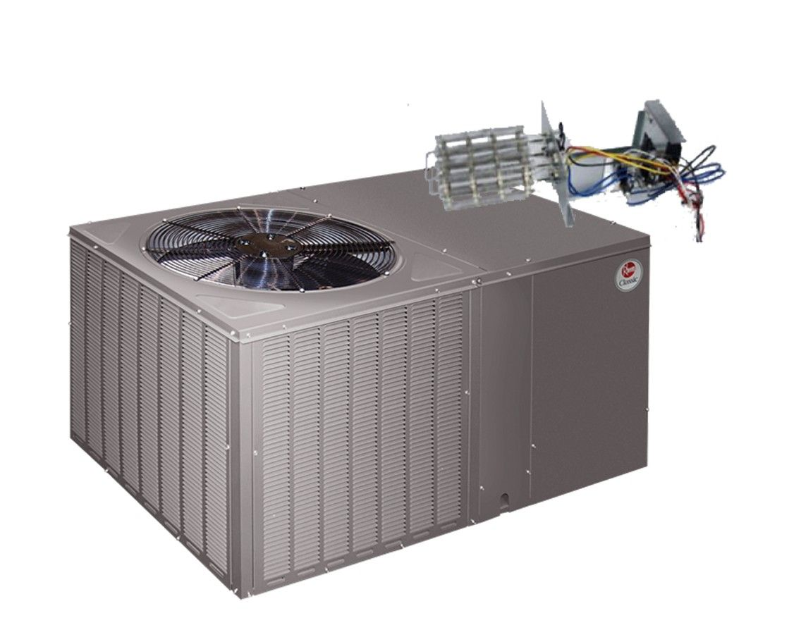 Rheem 14 Seer 5.0 Ton Straight Cool Package Unit with Electric Heat