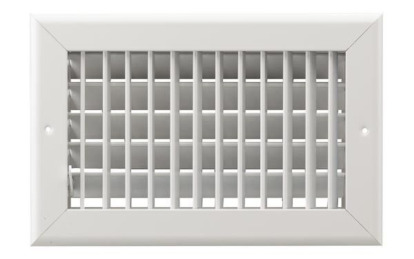 8x6 Single Deflection Multi-Shutter Sidewall Grille