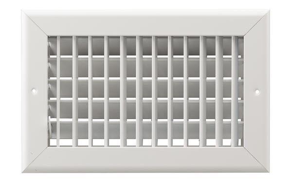 16x8 Single Deflection Multi-Shutter Sidewall Grille