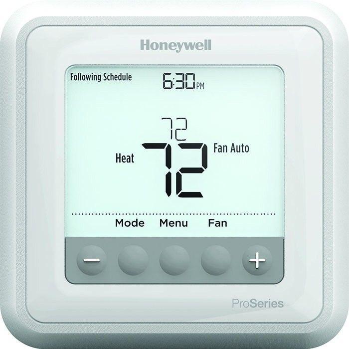 Honeywell T4 Pro Series Programmable Thermostat - Heat Pump 1C/2H