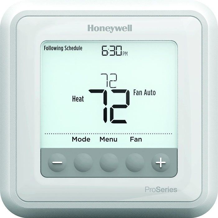 Honeywell T6 Pro Series Programmable Thermostat - 2C/2H