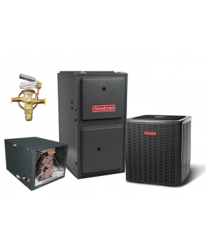 Goodman 15 SEER 1.5T 96% 60K BTU Two Stage Variable Speed Natural Gas System - Horizontal