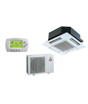 Mitsubishi 12,000 BTU Heat Pump W/Ceiling Recessed Indoor (16.0 SEER)
