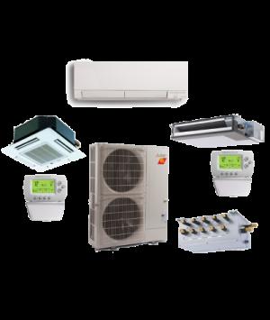 Mitsubishi 4 Zone 36K BTU Heat Pump Hyper Heat With up to Four Indoor Units