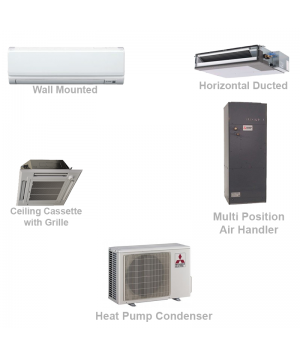 Mitsubishi Mini Split Ductless Heat Pump AC Commercial System - 12,000 BTU