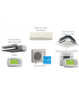 Mitsubishi MXZ-4C36NASplit Air Conditioning and Heating 36K BTU Ductless Mini Split - 4 Indoor Units
