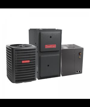 Goodman 2 Ton 14 SEER AC System with 60,000 BTU 92% Efficiency Gas Furnace Upflow