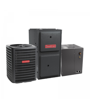 Goodman 2.5 Ton 14 SEER AC System with 80,000 BTU 92% Efficiency Gas Furnace Upflow with 3 Ton Blower