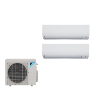 Daikin 3 Zone 24K BTU Heat Pump With Two (2) 12K BTU Indoor Units