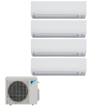 Daikin 4 Zone 36K BTU Heat Pump With Four (4) 9K BTU Indoor Units