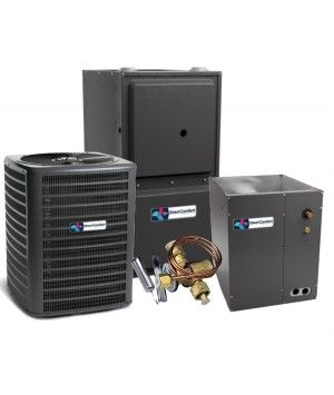 Direct Comfort 15 SEER 3.0 Ton 96% 80K BTU Two Stage Variable Speed Natural Gas System - Downflow
