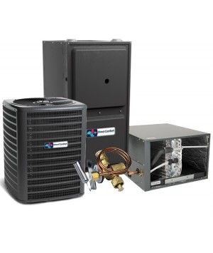 Direct Comfort 15 SEER 3.0 Ton 96% 80K BTU Two Stage Variable Speed Natural Gas System - Horizontal