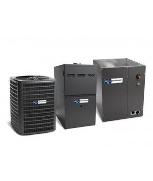 Direct Comfort 2.0 Ton 14 SEER Heat Pump with 60K BTU 80% Efficient One Stage Gas Upflow System