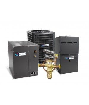Direct Comfort 14 SEER 5.0 Ton 100K BTU 80% Efficient One Stage Gas Downflow System