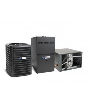 Direct Comfort 2.0 Ton 14 SEER Heat Pump with 60K BTU 80% Efficient One Stage Gas Horizontal System