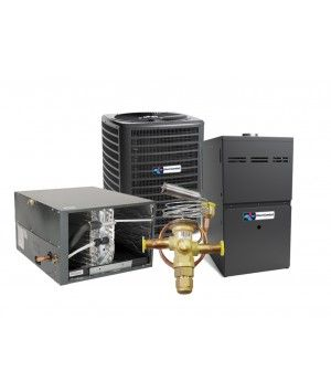 Direct Comfort 1.5 Ton 14 SEER Heat Pump with 60K BTU 80% Efficient One Stage Gas Horizontal System
