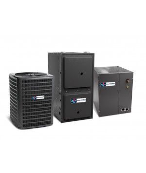 Direct Comfort 3.0 Ton 14 SEER 80K BTU 96% Single Stage Natural Gas System Upflow (with 4 Ton Blower)