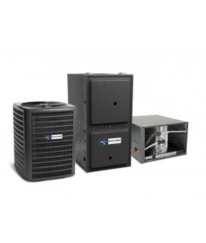 Direct Comfort 2.5 Ton 14 SEER 80K BTU 96% Single Stage Natural Gas System Horizontal