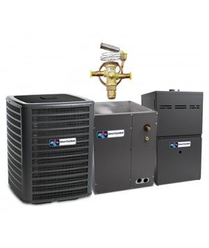 Direct Comfort 2.0 Ton 18.5 SEER Heat Pump with 80% 60K BTU Natural Gas System Two Stage Energy Star Upflow