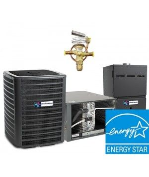 Direct Comfort 2.0 Ton 18 SEER  Two Stage System with 96% Efficient 40K BTU  Natural Gas Furnace Two Stage Variable Speed Horizontal Energy Star