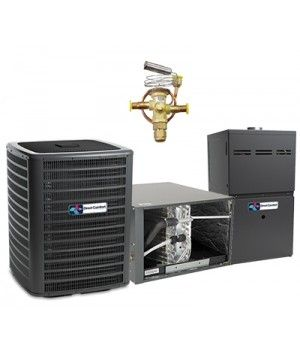 Direct Comfort 3.5 Ton 14 SEER 80K BTU 96% Two Stage Natural Gas System Horizontal